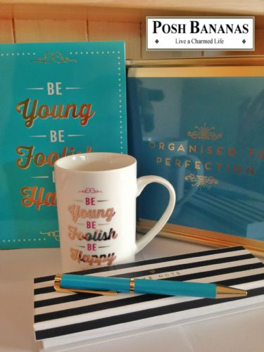Student Office Stationery Gift Pack - Mug, Storage Tin, Notebook and Pen - Graduation Gift Ideas